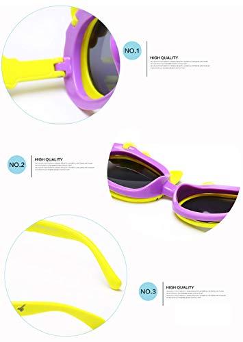 Da 10 Viola Sole Orecchie Carino 4 Flip Ragazza Bambini Arco Polarized Gatto Occhiali Cover Sunglasses Di mNnv80w