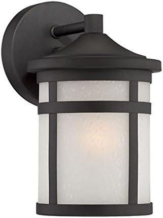 Acclaim 4714BK Visage Collection 1-Light Wall Mount Outdoor Light Fixture, Matte Black