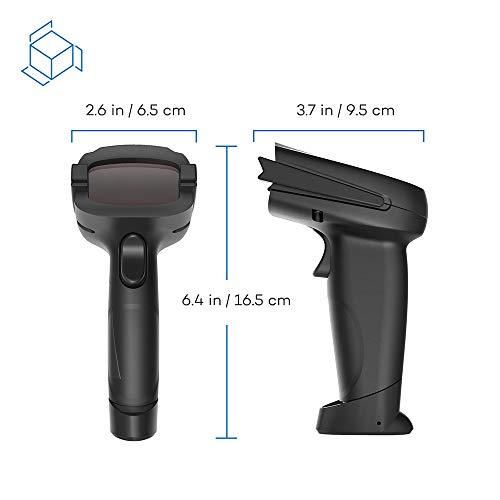 Barcode Scanner HooToo Bluetooth Wireless Bar Code Scanner with 32-bit Processor, 16MB Internal Storage, 750mAh Battery Compatible with Common System by HooToo (Image #3)