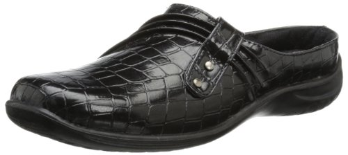 Croco Patent Shoes (Easy Street Women's Holly Mule,Black Patent Croco,10 W US)