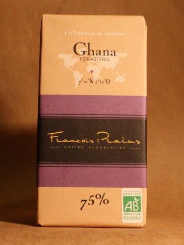 FRANCOIS PRALUS Chocolate Ghana 75 Pct Bar, 3.5274 OZ