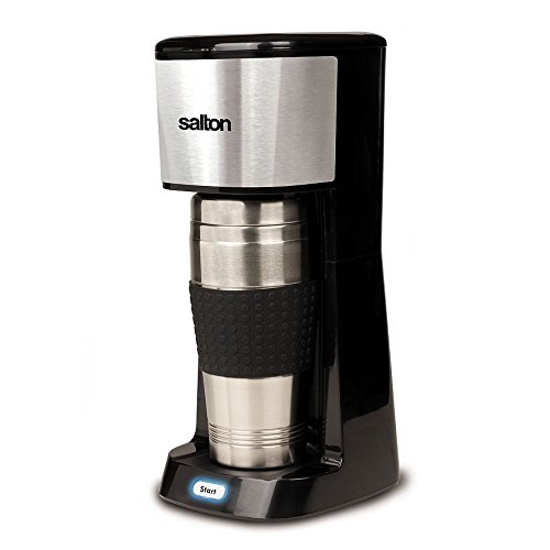Salton FC-1438 Travel Coffee Maker, Stainless Steel Inc.