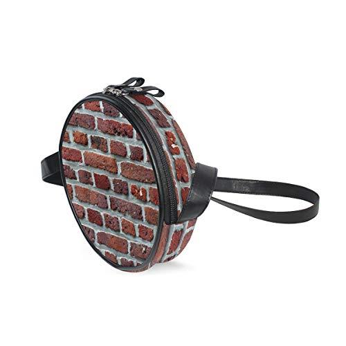 (Womens Crossbody Bags Brick Wall Red Girls Cute Shoulder Bag)