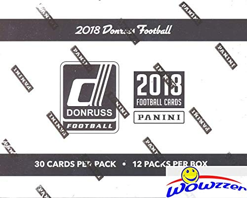 2018 Donruss NFL Football MASSIVE Factory Sealed Jumbo Fat Pack Box with 360 Cards including 48 EXCLUSIVE PARALLELS! Look for RC & Auto's of Baker Mayfield, Saquon Barkley, Sam Darnold & More! WOWZZER