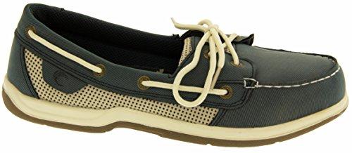 Island Surf Co Mujer Zapatos de Cuero Sintético de Vela azul marino