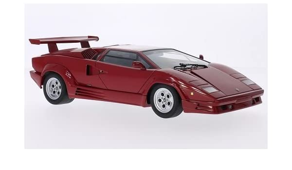 Lamborghini Countach With Rear Spoiler Diecast Model Car Die Cast