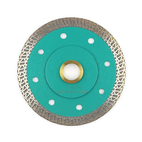 Porcelain Blade 4 Inch,Stylish Y&I Tile Blade Super Thin Ceramic Diamond Saw Blades for Grinder Tile Cutter With Adapter 7/8,20mm,5/8 Inch Abor (4 inch)