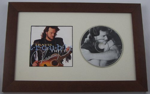 Travis Tritt Trouble T-r-o-u-b-l-e Authentic Signed Autographed Music Cd Cover Custom Framed (Restless Signed)