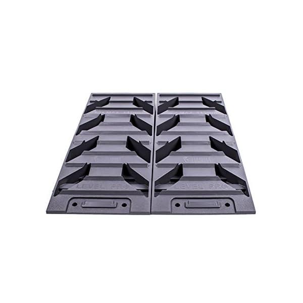 41NJb2OzK0L Fiamma Ausgleich, Auffahr-Keil 2er Set - bis 5000 kg, 40/43 x 17 x 9,5 cm für Wohnwagen oder Wohnmobil