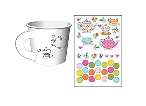 Creative Converting Tea Time Tea Party Decorate Your Own Favor Cups (6 ct)