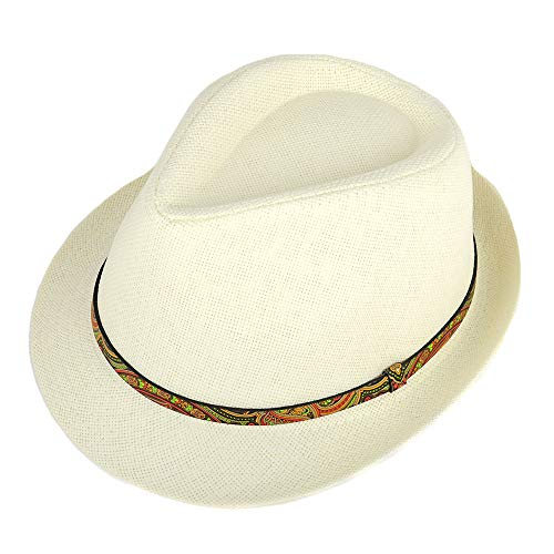 WESTEND Unisex Short Brim Fedora - Hats for Men & Women + Panama Hats & Straw Hats