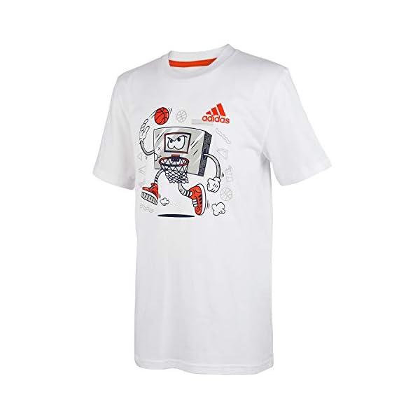 adidas Boys' Short Sleeve Cotton Jersey Graphic T-Shirt