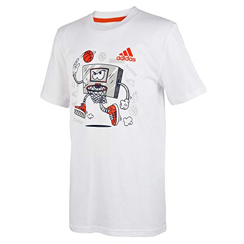 adidas Boys' Short Sleeve Cotton Jersey Graphic T-Shirt
