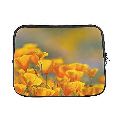 Design Custom California Golden Poppy in Diamond Valley Lake Ca Sleeve Soft Laptop Case Bag Pouch Skin for MacBook Air 11