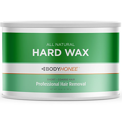 Full Body Hard Wax For Short Coarse Hairs - All Natural - Professional Size 14 oz. Tin