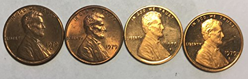S-type 2 Proof - 1979 P D S Lincoln Penny Cents Type 1+2 BU-Proof