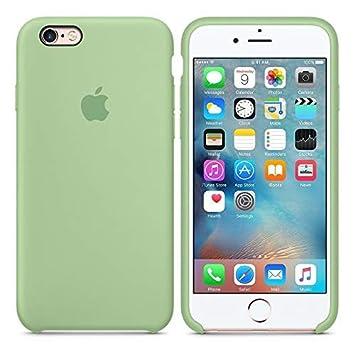 e2004aad4b0 Desconocido Funda para iPhone, Silicona Verde Pastel Manzana Logo Apple  Carcasa iPhone (iPhone 6 / 6s): Amazon.es: Electrónica