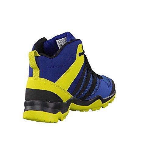 adidas Terrex Ax2r Mid Cp K, Zapatos de Senderismo Unisex Niños Azul (Azubas/negbas/limuni)