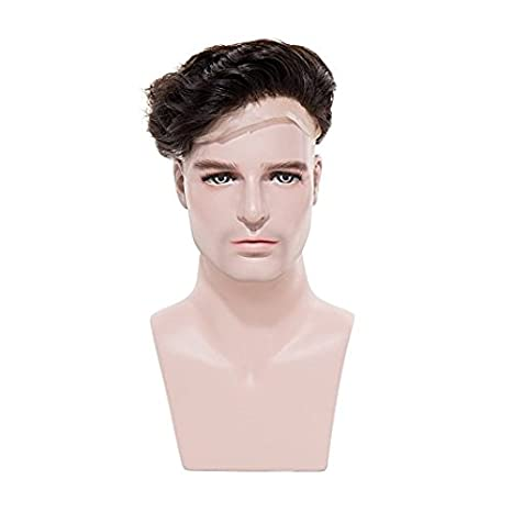 Human Hair Patch For Men Best Quality Full Lace Toupee Men Wigs Human Hair  Wig For Men + Free Front Lace Hair Tape (9x6 21ac83fdc1ca