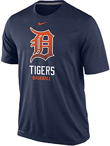 Nike Detroit Tigers Baseball MLB Mezzo Logo Legend 1.4 Dri-FIT Men's T-Shirt (Medium, Navy - Shirt Nike Mlb Training