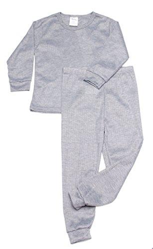 Boys Thermal Long Underwear Set (4T, Gray)