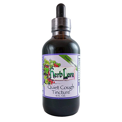 Quiet Cough Tincture - Natural Dry Cough Medicine for Adults - Dry Cough Relief, Cough Suppressant, and Expectorant with Mullein Leaf, Elecampane Root and Lobelia- 4 Ounces - Herb Lore