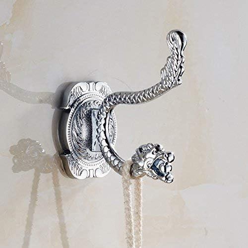 YKJ-YKJ シングルハンドルキッチンミキサーシンクタップキッチン蛇口洗面アンティークゴールドフェニックスエンボスドアフック浴室の背後に、シルバー蛇口フック付き 蛇口