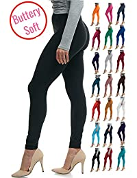 Women's Soft Classic Leggings Stretch Fit Sexy Contour...