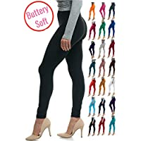LMB Women's Soft Classic Leggings Stretch Fit Sexy Contour 40+ Colors One Size