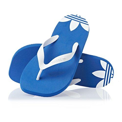 Adidas Adiflip Kinder V24238 Zehentrenner Badelatschen color: Blue / White GR: 4 UK
