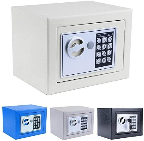 Small Safe, Fireproof Safe Lock Box Digital Safe Box for Money Gun Jewelry Cash – US Stock White