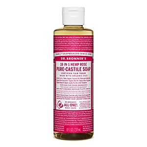 Dr Bronner Organic Rose Castile Liquid Soap 237 ml
