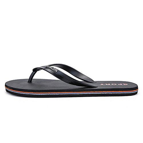 infradito con taglia fino 45eu da 45 dimensione alla Colore Jiuyue pantofola infradito Scarpe Sandali Rosso da uomo shoes uomo Nero classici 0xYqPFz