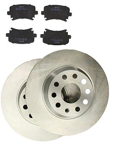 MAPCO 47841 Bremsensatz Bremsscheiben mit Bremsbelä ge Hinterachse