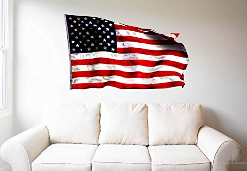 GT Graphics American Flag Waving - 30