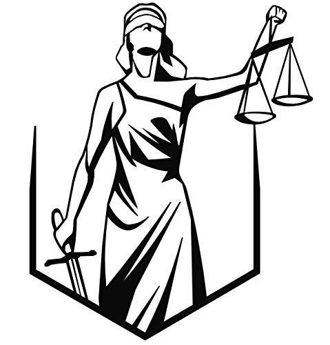 Metal Wall Art Lady Justice Themis-II Design/Unique Gift/Lawyer Office Gift/Law Theme Accessories/Metal Poster/Metal Wall Decor//Metal - Art Lady Justice