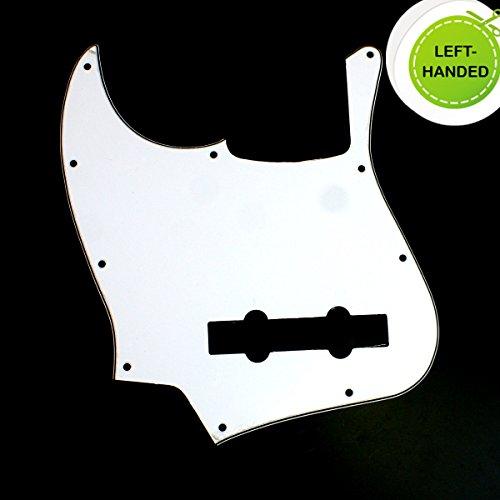 Left Handed bass Guitar Pickguard For Jazz Bass 5 String JB ,3ply White