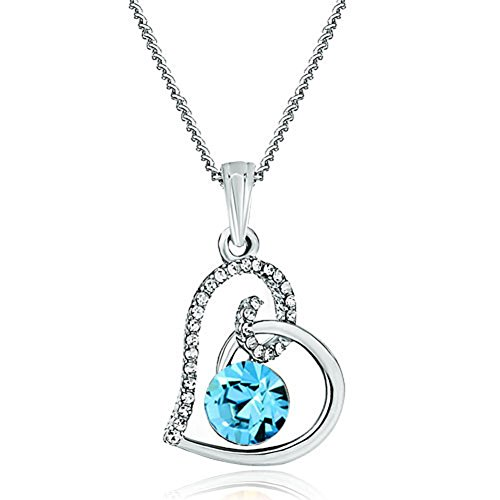 March birthstone necklace amazon march birthstone necklace mozeypictures Choice Image