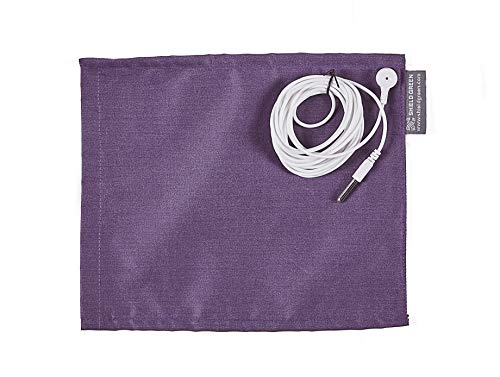 Shieldgreen Earthing Therapy-Earthing Mouse Pad, Stainless Steel Yarn 25% Fabric+Earthing snap(Length 3m) for Grounding (Violet)