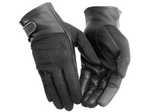 (NEW RIVER ROAD MENS PECOS MESH MOTORCYCLE GLOVES, BLACK, XL)