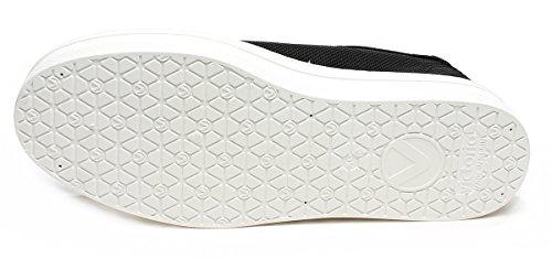 noir caoutchouc Bas Art et Victoria de plateforme tissu supérieur Bout blanc Sneakers 1132101negro en zx5qf0