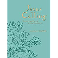 Jesus Calling: Enjoying Peace in His Presence, large text teal leathersoft, with full Scriptures