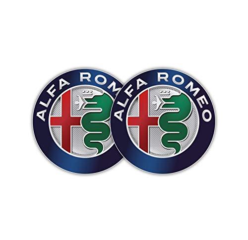 Stickernaut Decal Compatible Replacement for Alfa Romeo Badge Alfa Romeo Emblem Sticker for Water Bottles Car Decals 2 Pack [Premium Matte Waterproof Vinyl]
