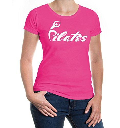 buXsbaum® Girlie T-Shirt Pilates Fuchsia