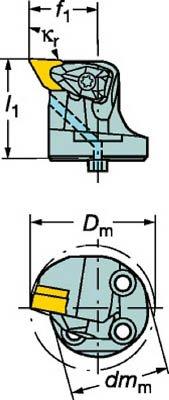 TRUSCO サンドビック コロターンSL コロターンRC用カッティングヘッド 570DDUNL3211  B015DZHVBW