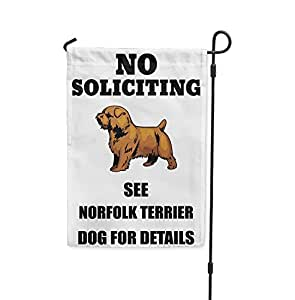 No la solicitud de ver Norfolk Terrier perro para detalles Patio Patio Casa Jardín bandera
