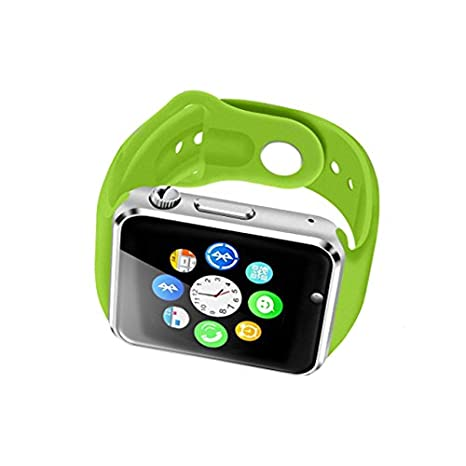 Dokpav® W08 Reloj inteligente Smartwatch Podómetro, Bluetooth, USB, Compatible con Smartphone IOS iPhone Android Samsung, color Verde: Amazon.es: ...