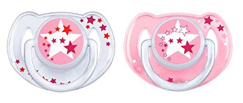 Philips Avent SCF176/24 Schnuller für die Nacht 6-18M, pink