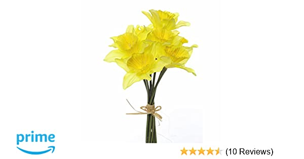 Amazon floristrywarehouse artificial daffodils 9 stem bunch 13 amazon floristrywarehouse artificial daffodils 9 stem bunch 13 inches yellow spring flower home kitchen mightylinksfo