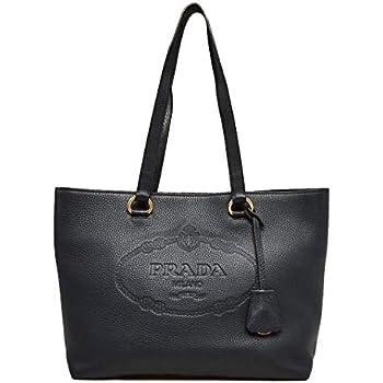 eb6291734e16 Amazon.com: Prada Women's Glace Calf Shopping Handbag 1bg625 Black ...